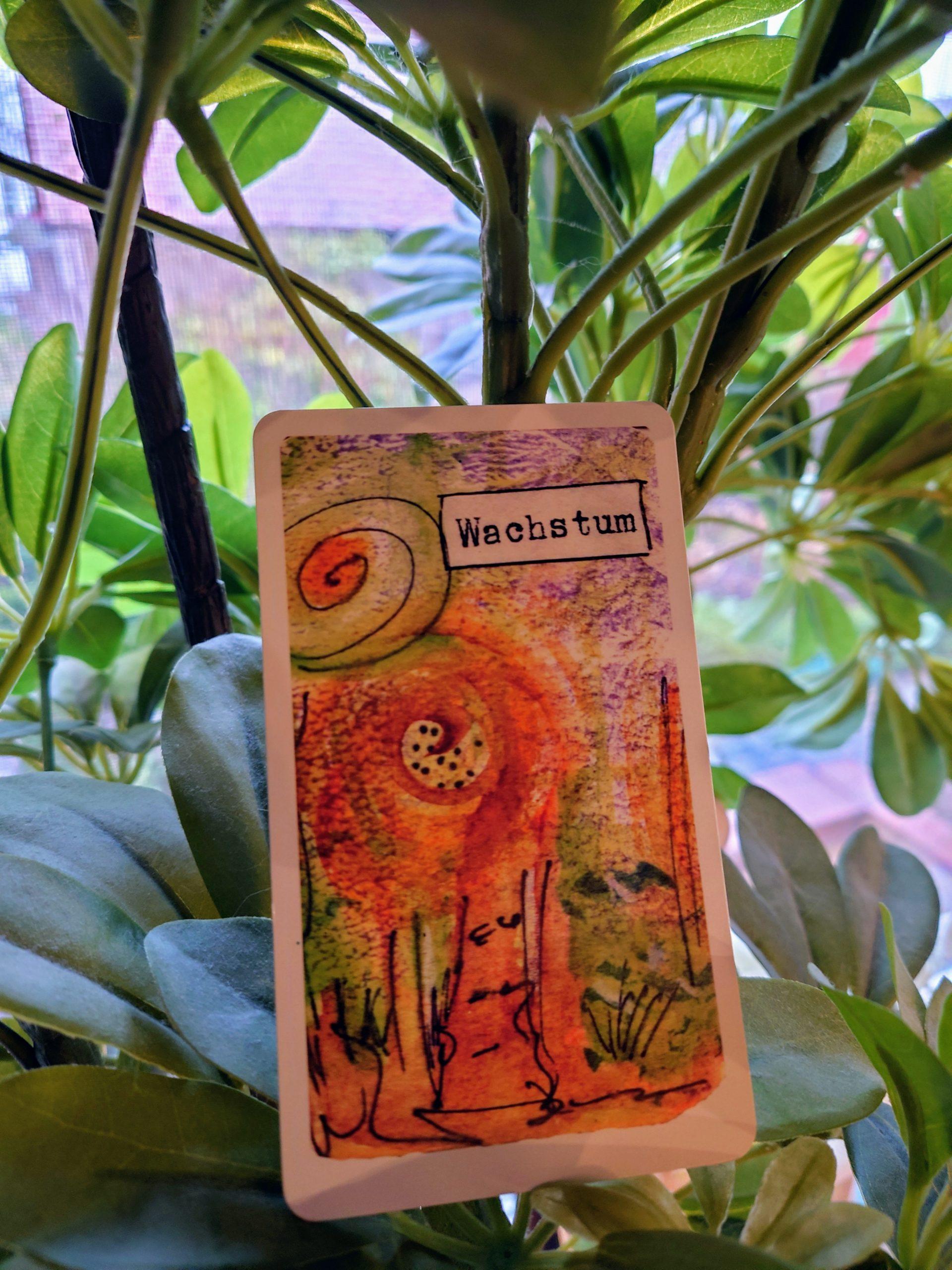 """Karte """"Wachstum"""" aus meinem energetischen Kartendeck"""